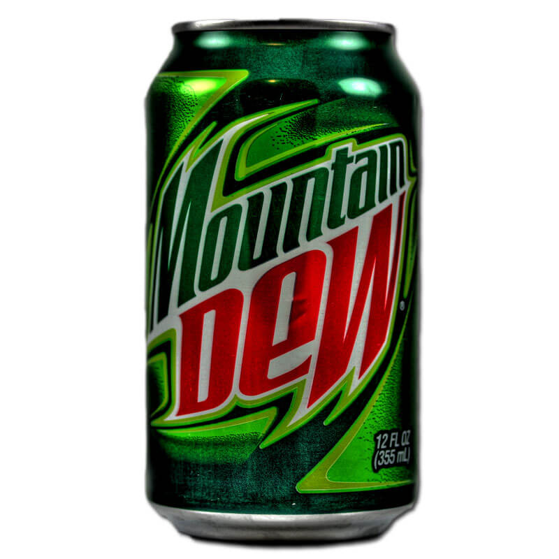 mountain dew can