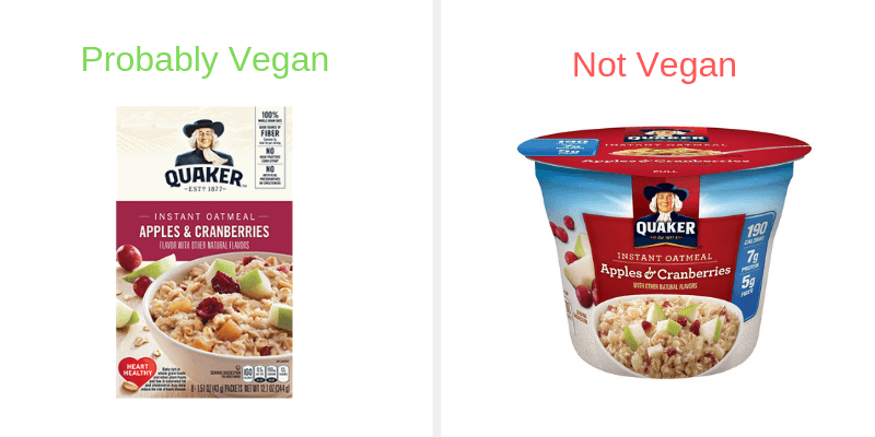 apple cranberry instant oats box vs cup
