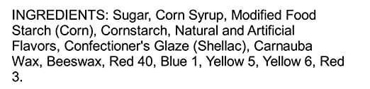brachs jelly bean ingredients