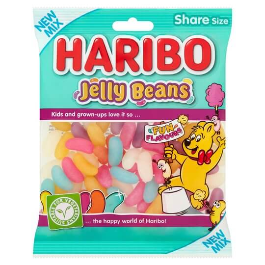 haribo jelly bean packaging