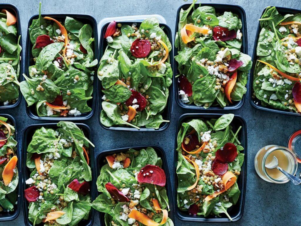 lentil tahini salad