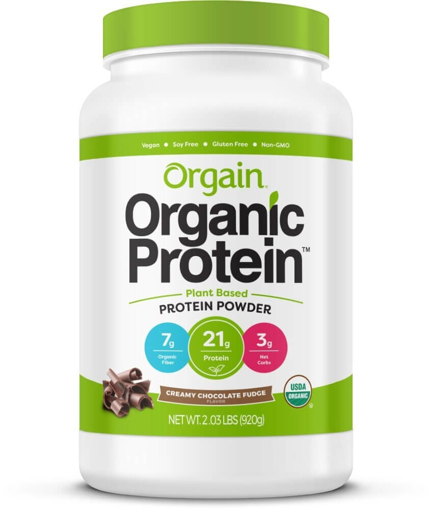 orgain organic protein powder packagin