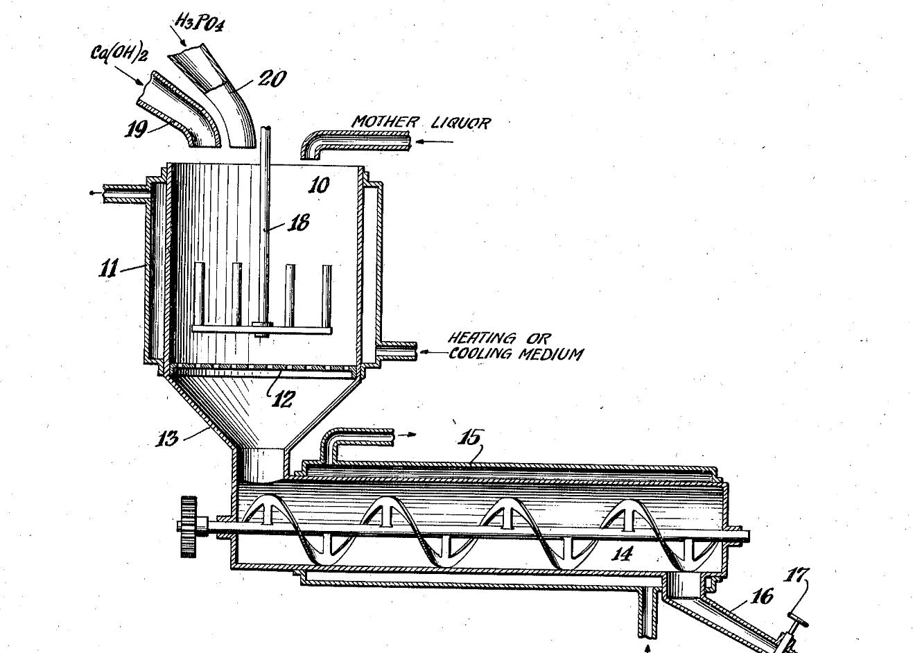 monocalcium phosphate process diagram