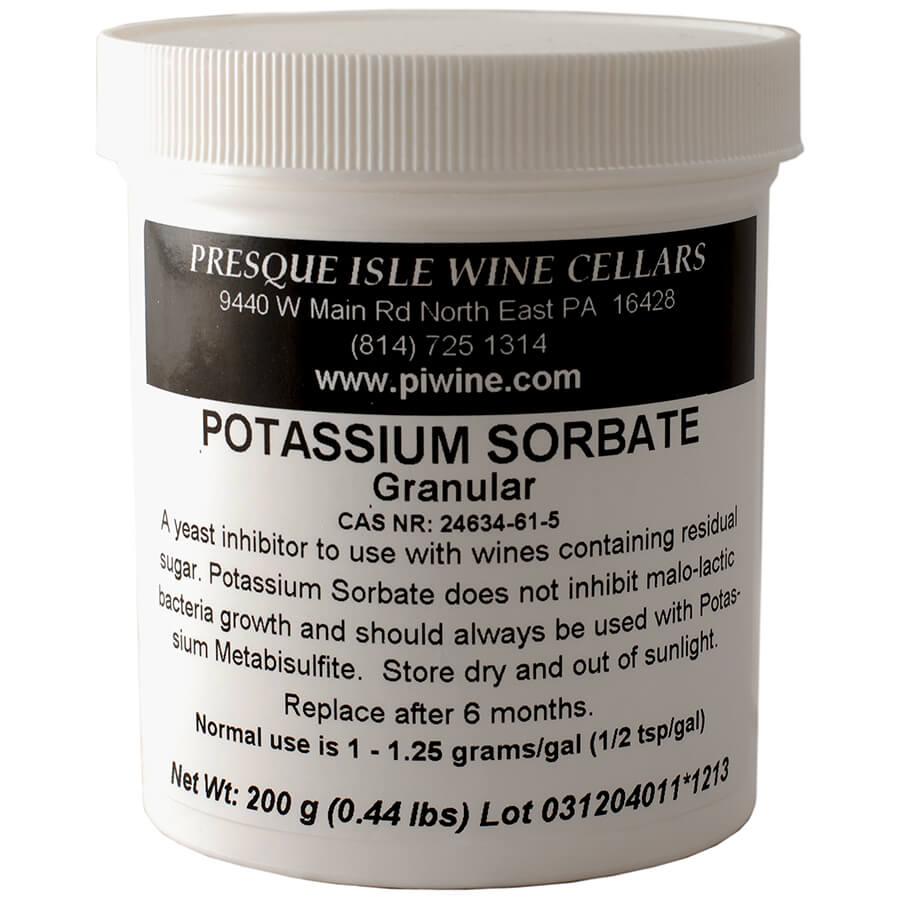potassium sorbate container