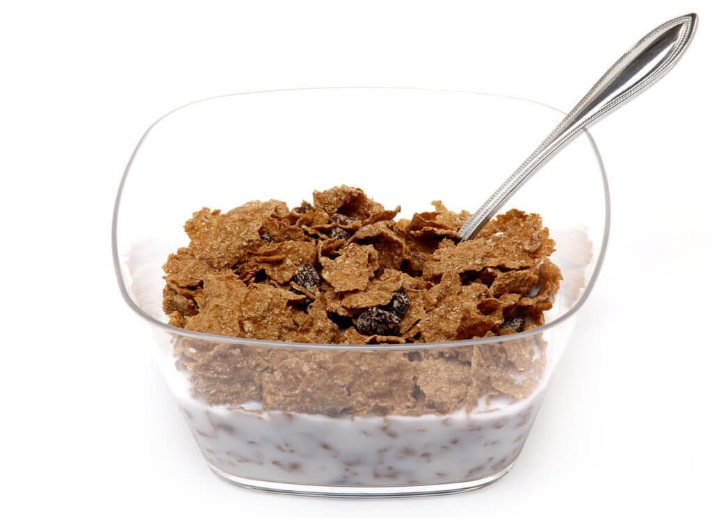 bowl of raisin bran