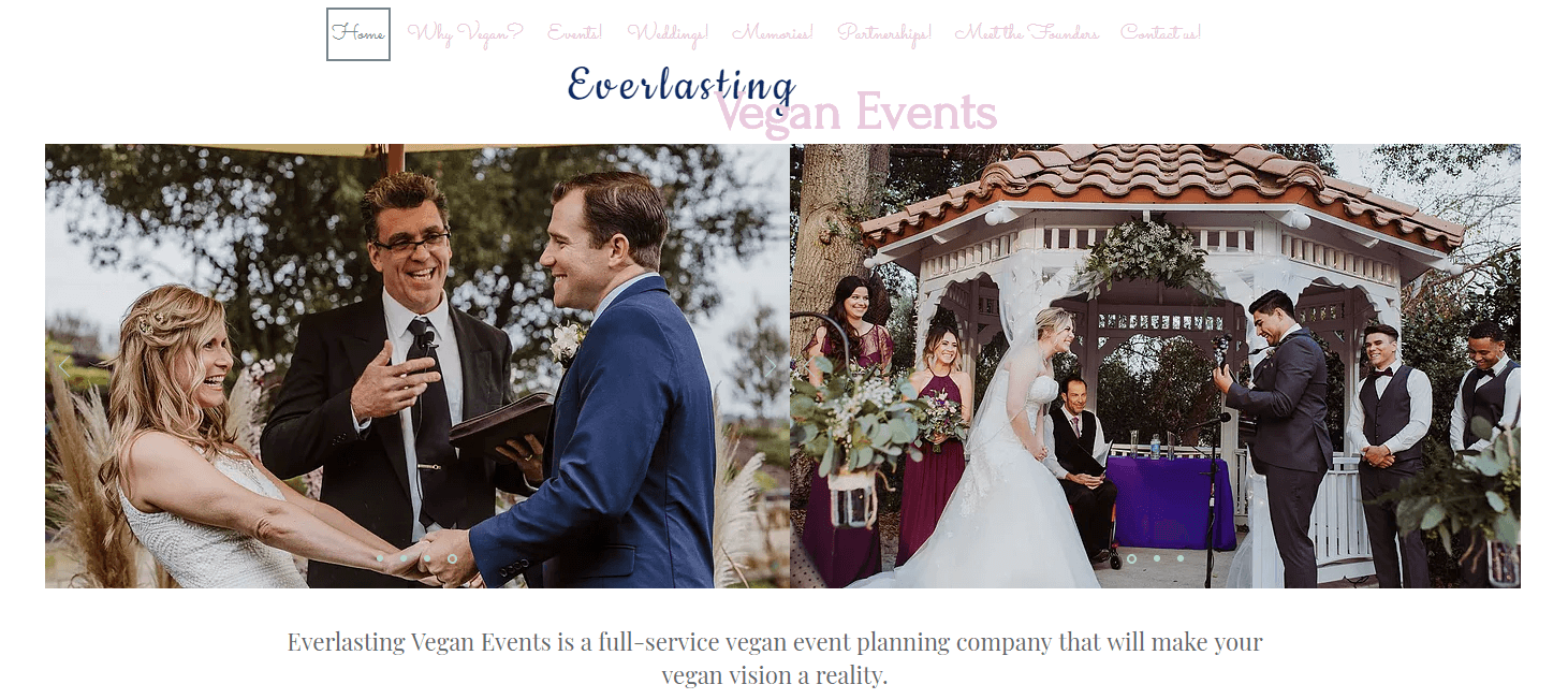 vegan event planning business