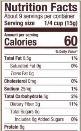 nutritional yeast nutrition facts