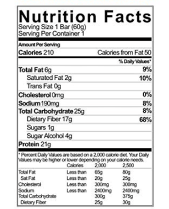 no cow nutrition facts