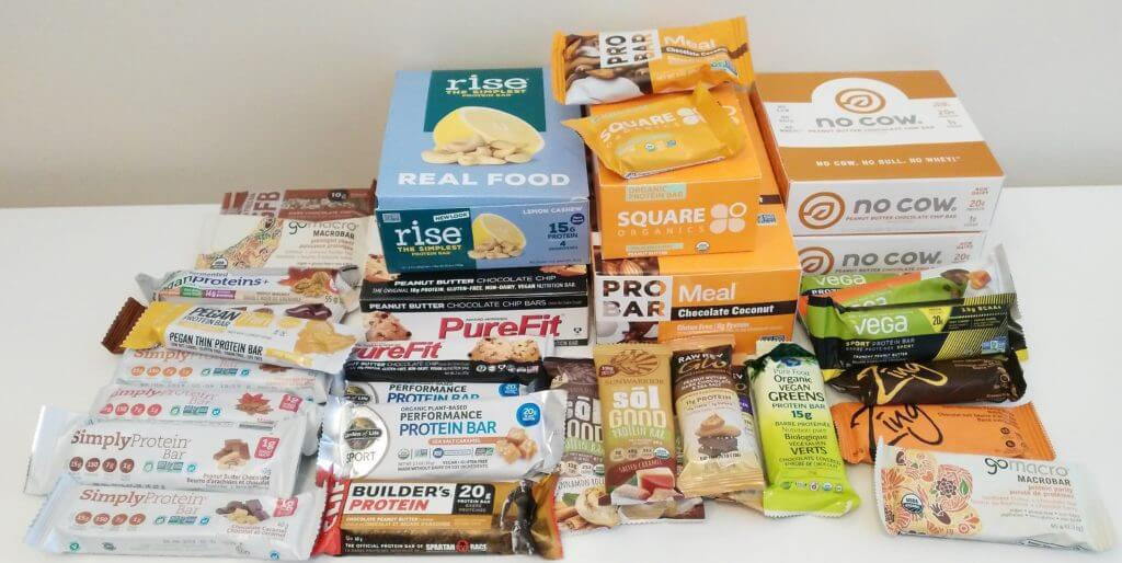 my vegan protein bar collection