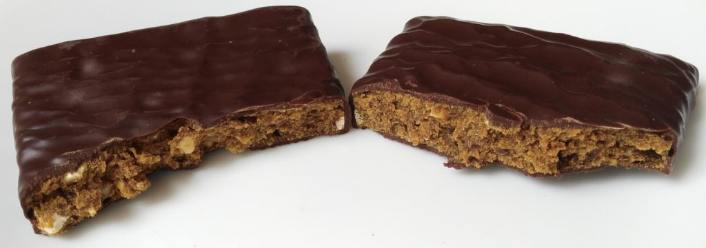 square organics protein bar inside split