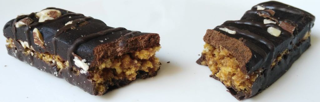 vega protein snack bar split inside