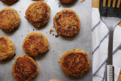 amaranth and red lentil patties