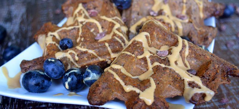 easy vegan oat protein waffles