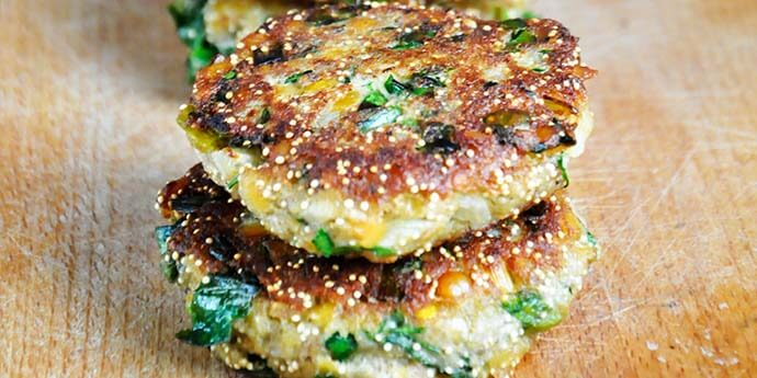 lentil and amaranth patties