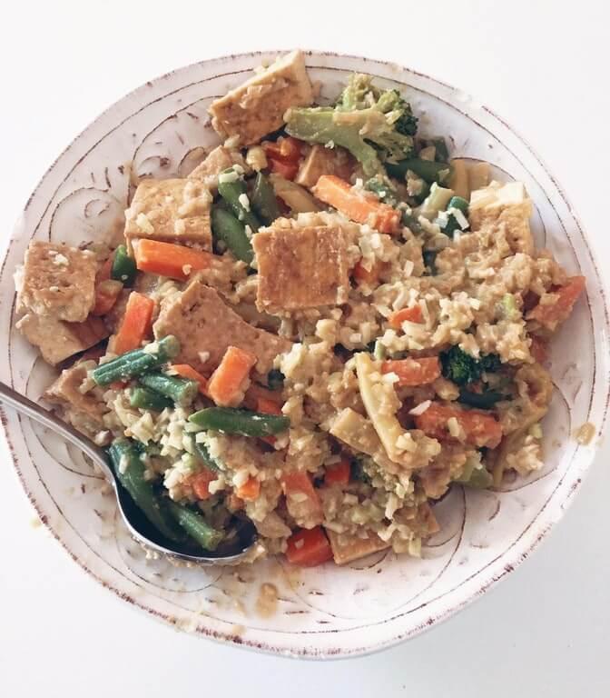 satay tofu stir fry