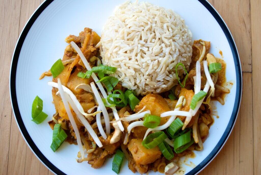 seitan panang curry