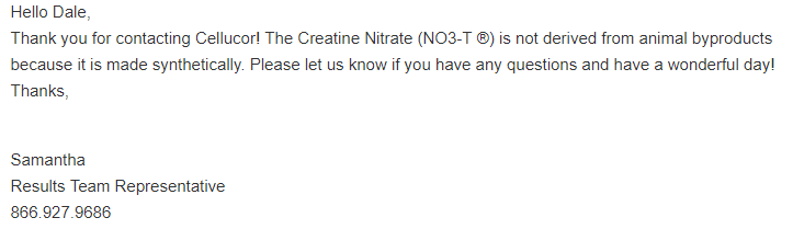 cellucor c4 support message