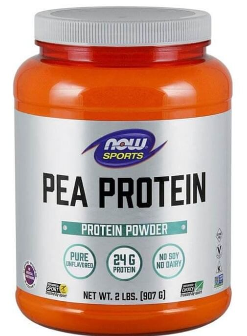 now sports pea protein packaging