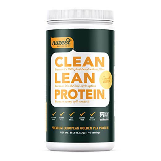 nuzest vegan protein powder container