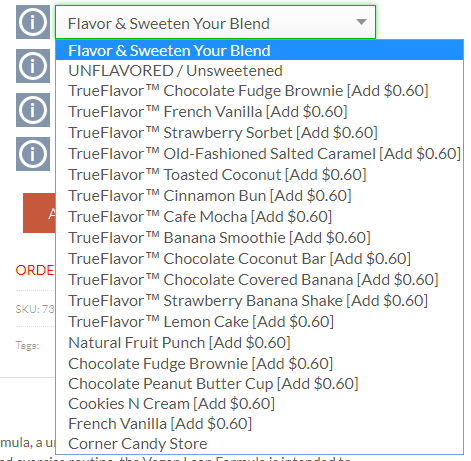 true nutrition flavor options