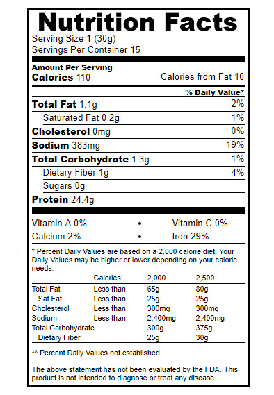 true nutrition vegan lean nutrition facts