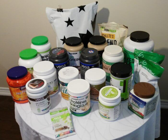 my vegan protein powder collection