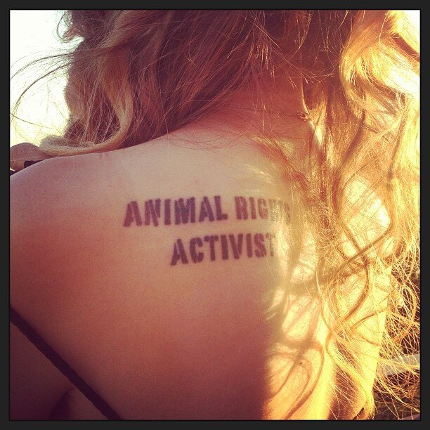 animal rights activist tattoo