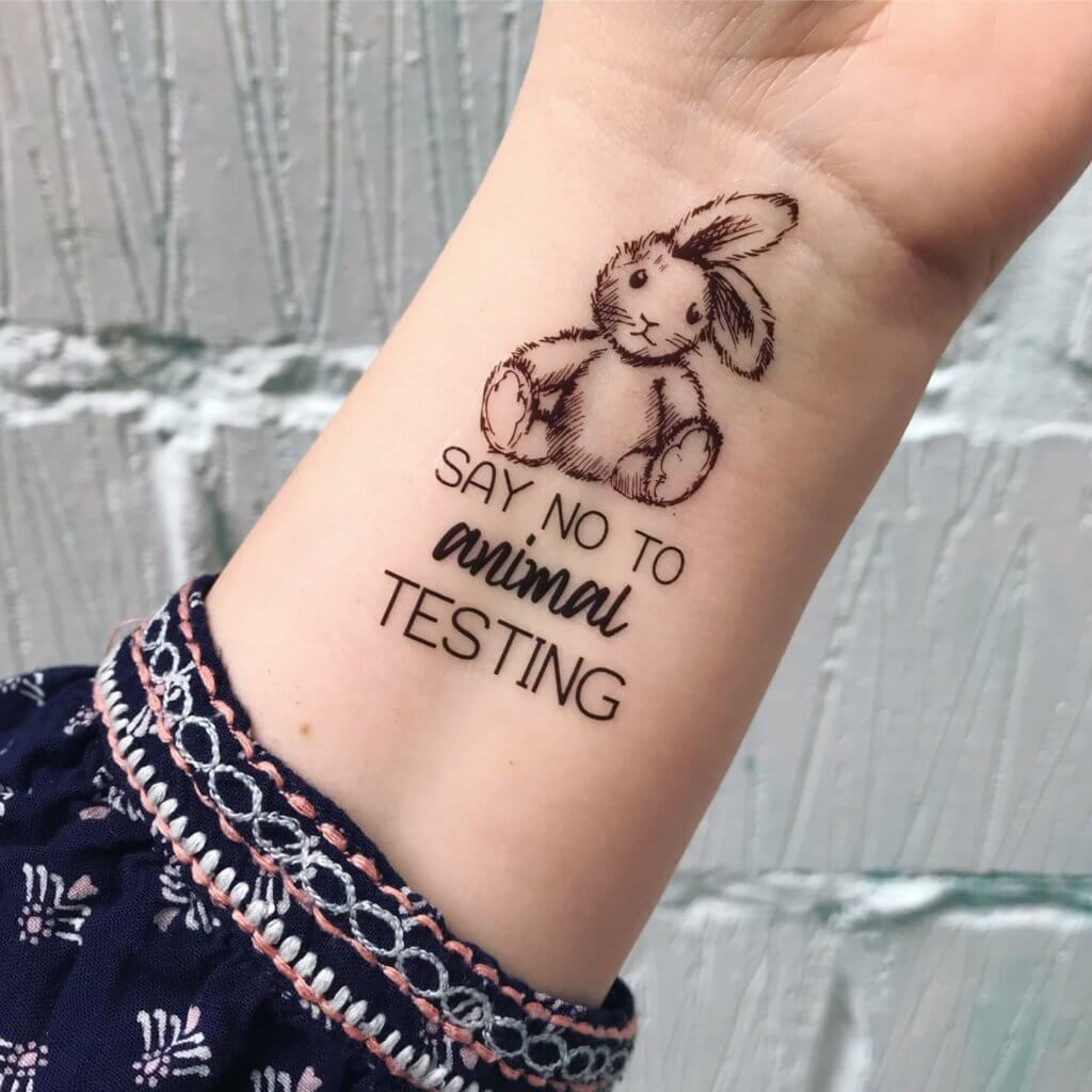 animal testing tattoo