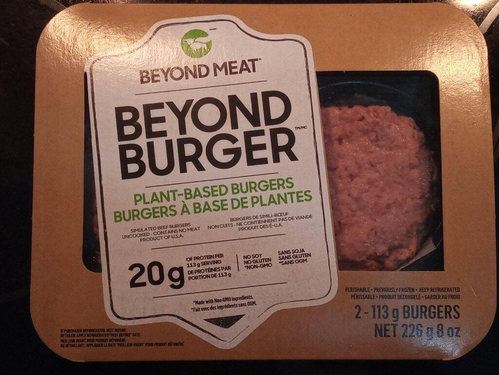 beyond burger packaging