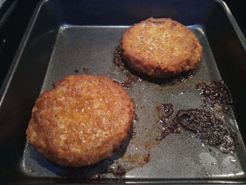 cooked beyond burgers in pan