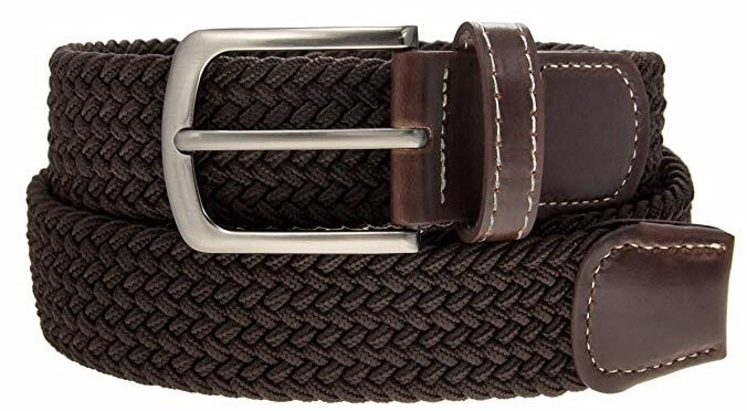 dg hill vegan leather braided belt