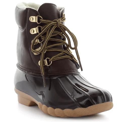 kohls duck boots