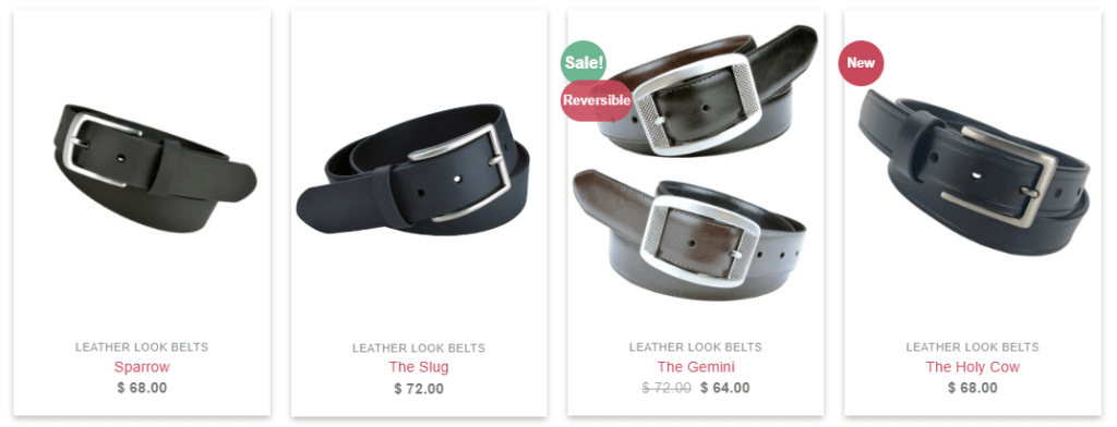 truth vegan leather belts