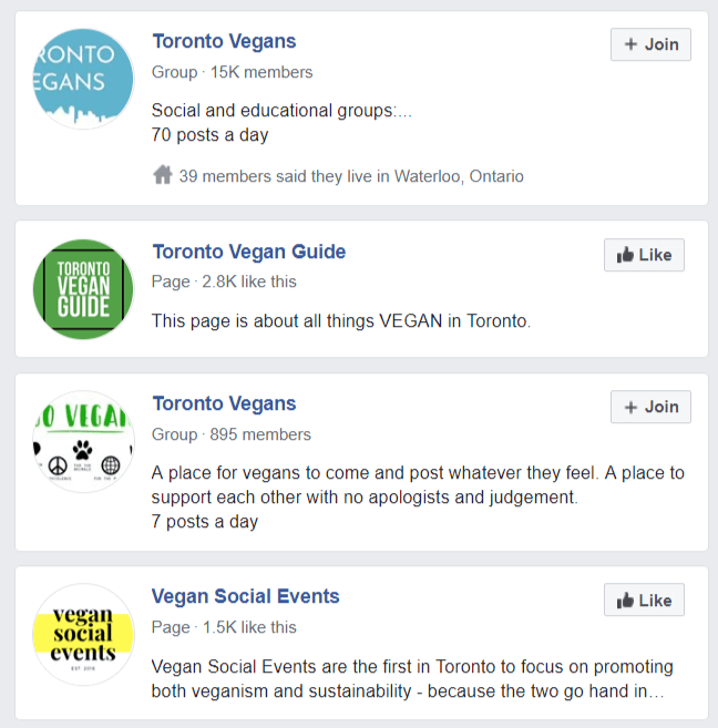 vegan facebook groups