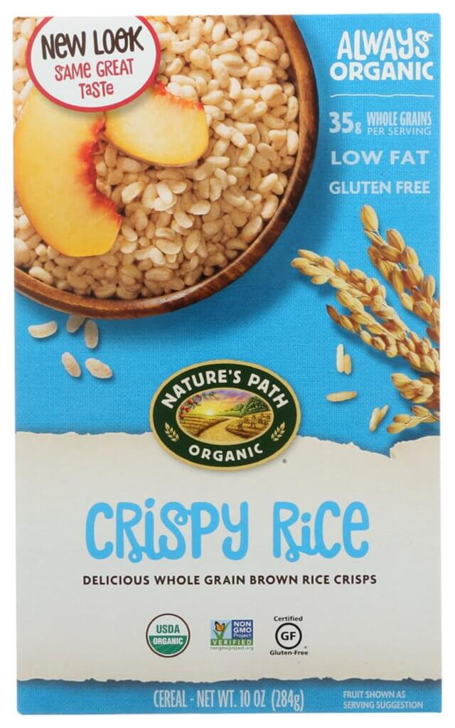 natures path rice crispy cereal