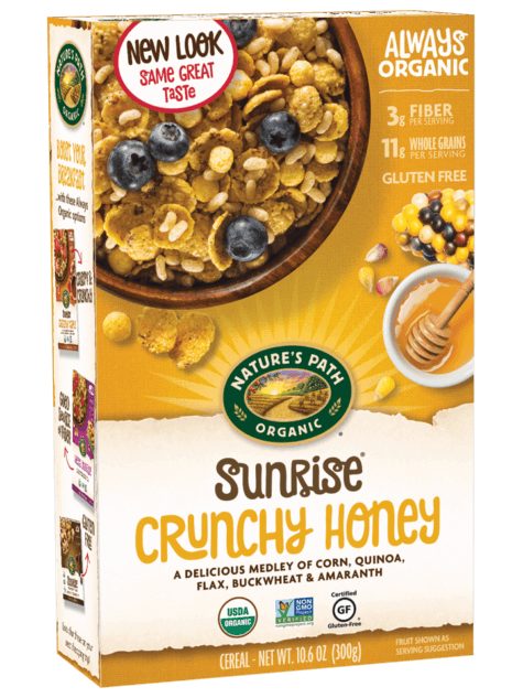 natures path crunchy honey cereal