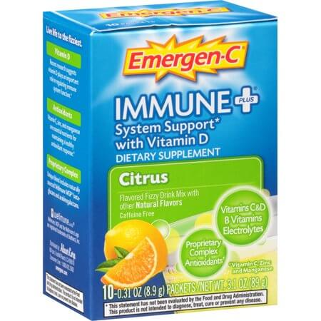 emergen c immune support plus is not vegan