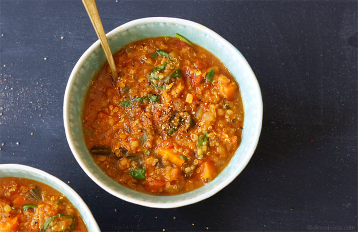 lentil and kale stew