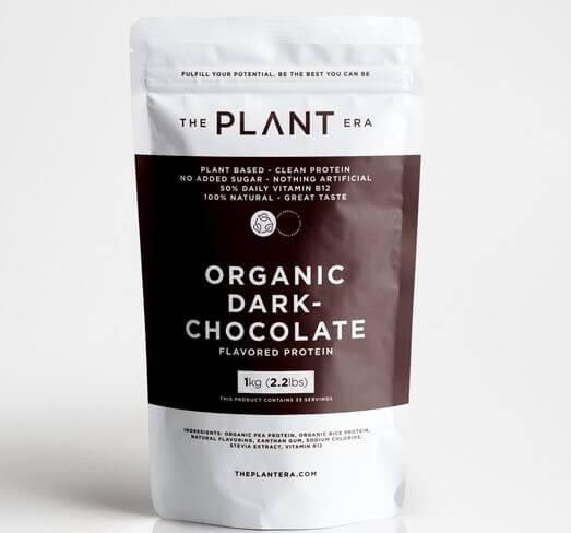 plantera dark chocolate plant protein powder