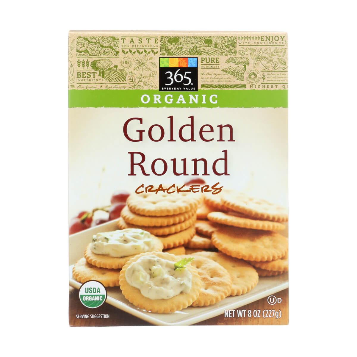 golden round vegan crackers