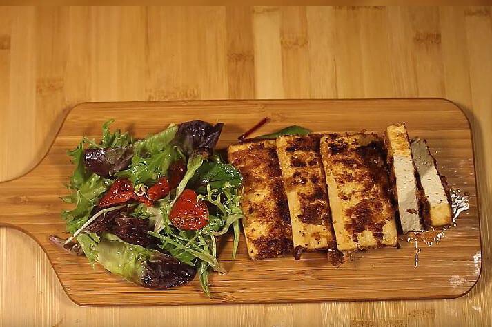 Breaded tofu sticks