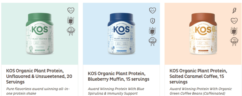 kos protein products