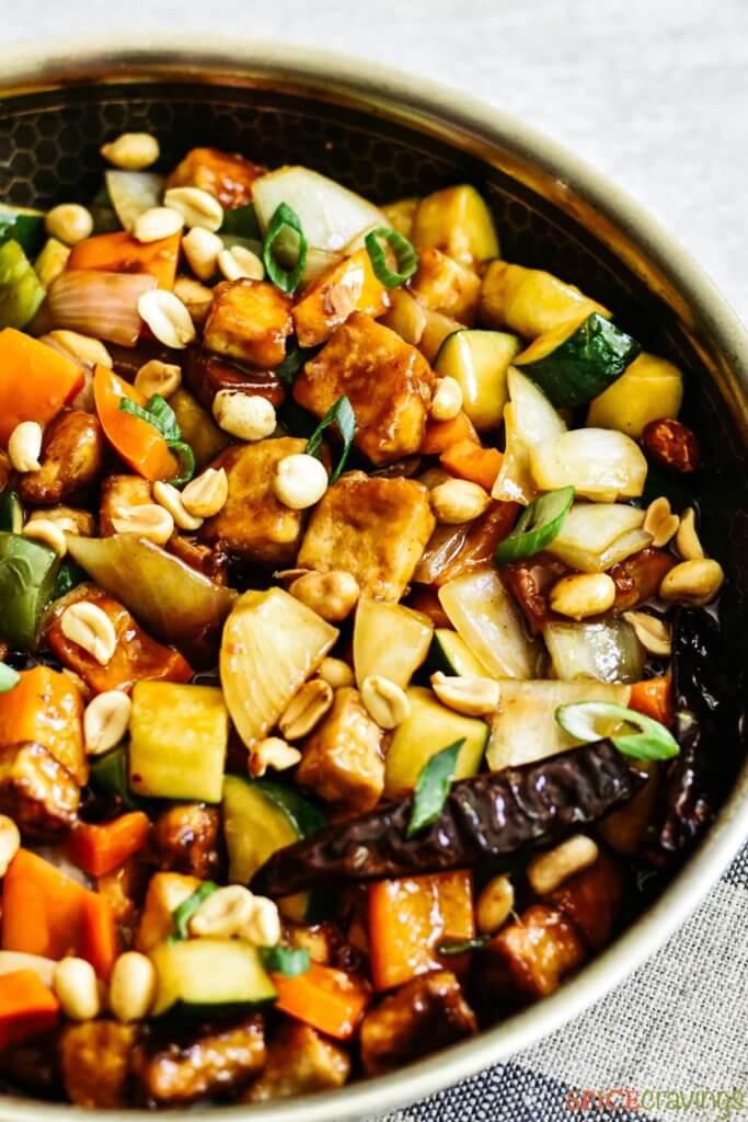 kung pao vegan tofu