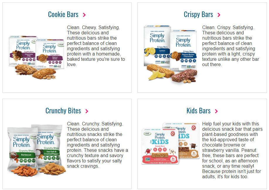 simply protein products