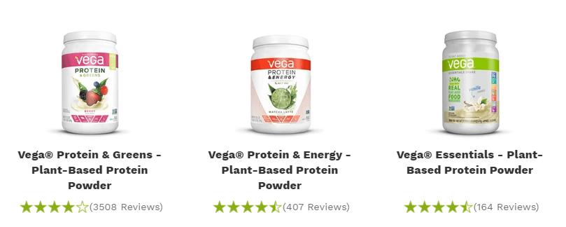 vega protein powder products