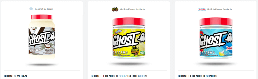 ghost supplements products
