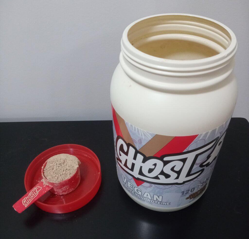 ghost protein powder scoop