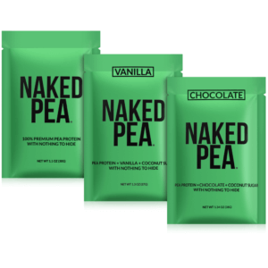 naked pea samples