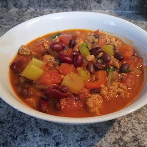 high protein vegan chili
