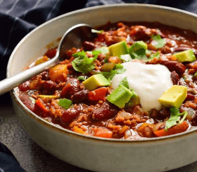 vegan tvp chili